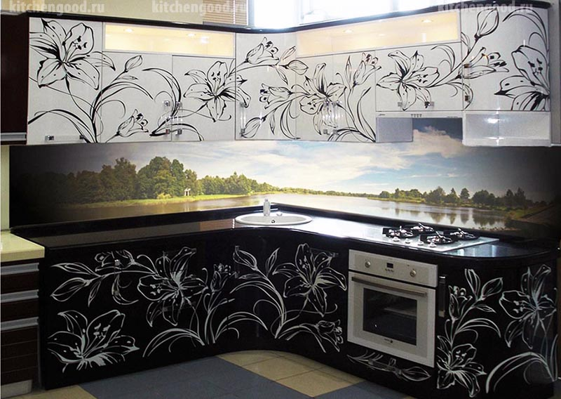 кухня Арт-Деко, фотопечать, фото,