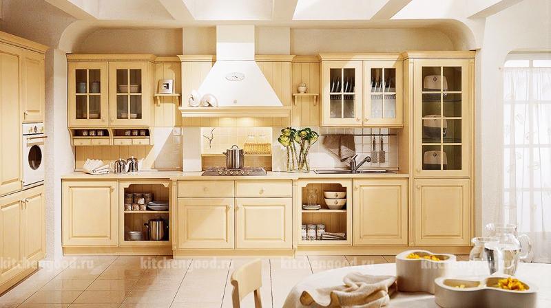 кухня в стиле Прованс, образцы кухонных гарнитуров, фото