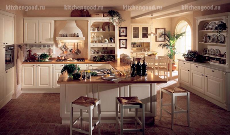 кухня с островом Пованс