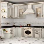 Кухня, Классика, патина, светлая, угловая, фото, цена