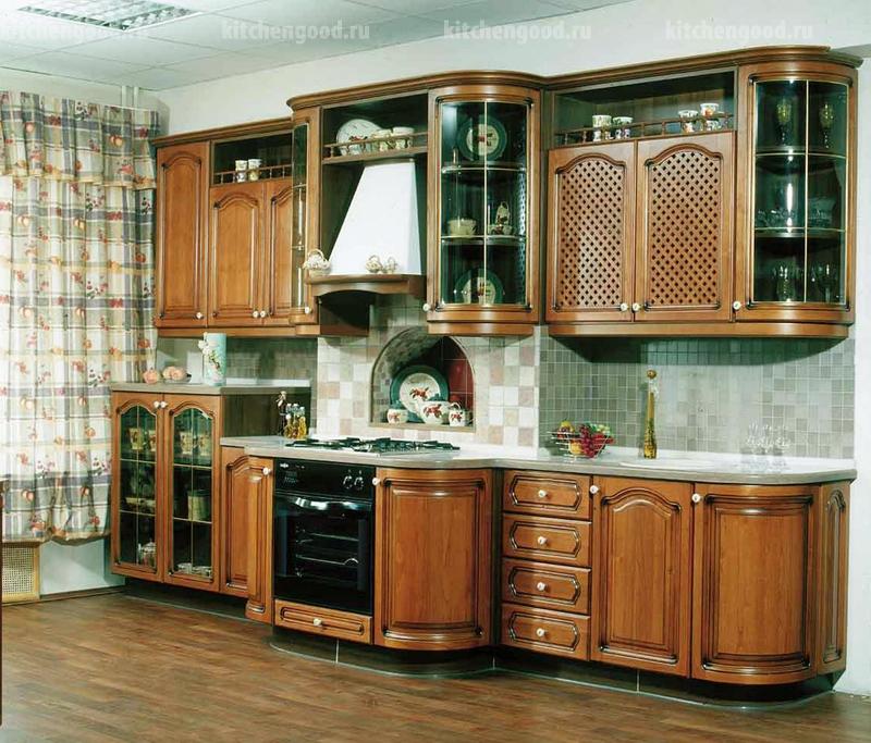 Кухонный гарнитур Классика, массив, фото, цены
