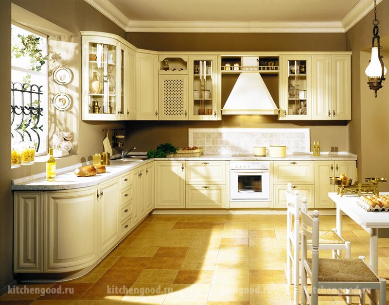 Кухонный гарнитур угловой Классический, фото кухонных гарнитуров, цена