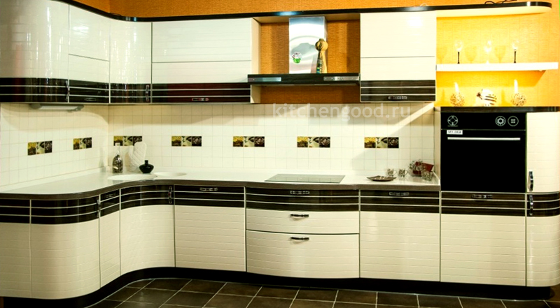 кухонный гарнитур акриловый модерн