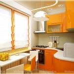 кухня на заказ с радиусными фасадами Модерн