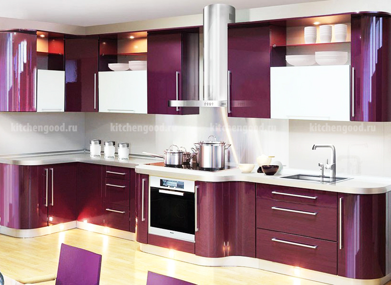 кухня хайтек, образцы кухонных гарнитуров, фото