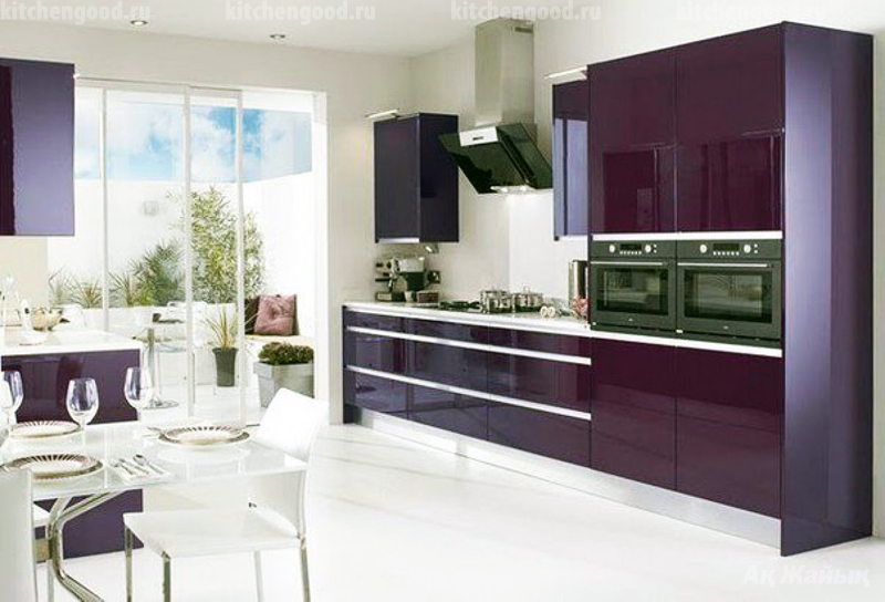 кухня в стиле хай-тек, образец, фото