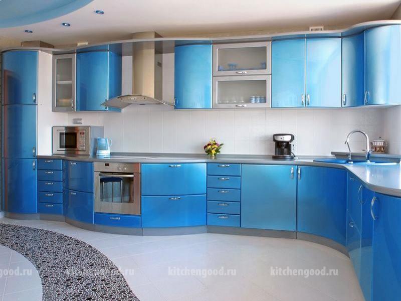 кухня МДФ в стиле хай-тек