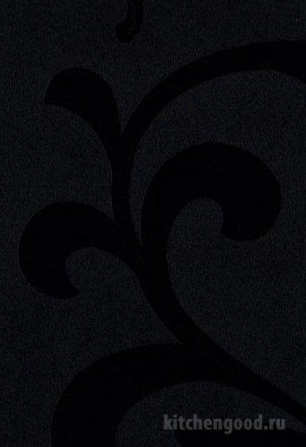 Пленка ПВХ декор аркадия черная кухонный фасад фото