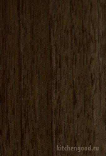 Пленка ПВХ глянец орех седой темный кухня фасад фото образец