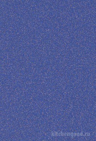Пленка ПВХ Синий металлик - фото образец фасада кухни