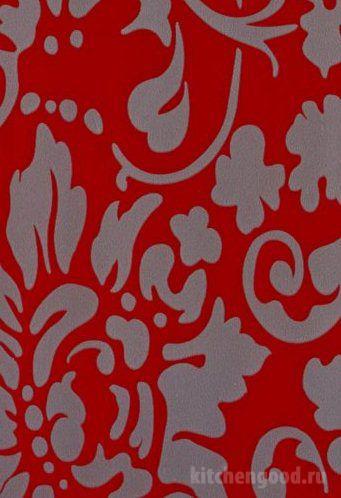 Пленка ПВХ глянец флоренция красная кухня фасад фото образец