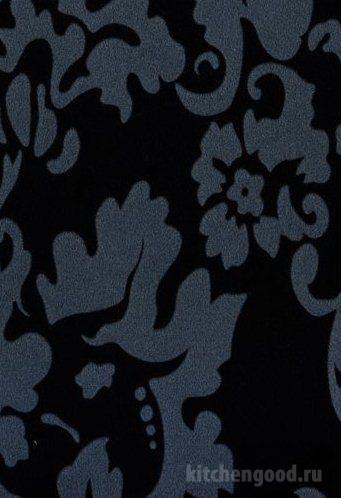 Пленка ПВХ декор флоренция черная кухонный фасад фото