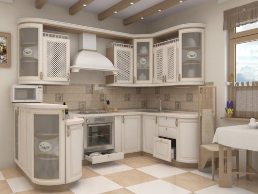 кухня МДФ патина