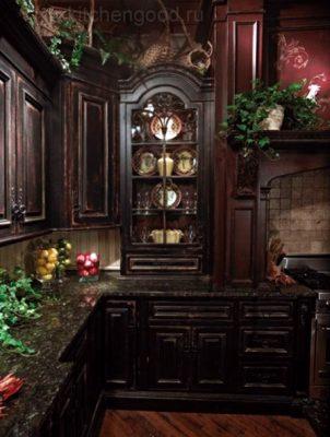 кухня Классика темная