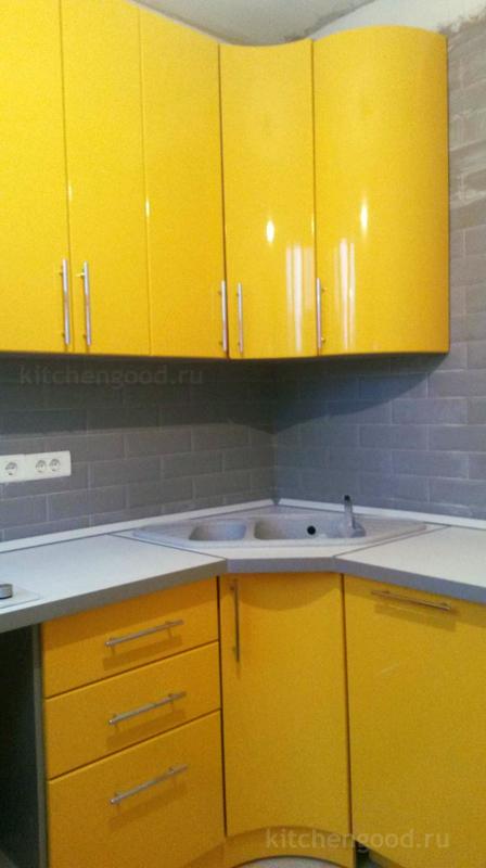 Кухня МДФ пленка желтая