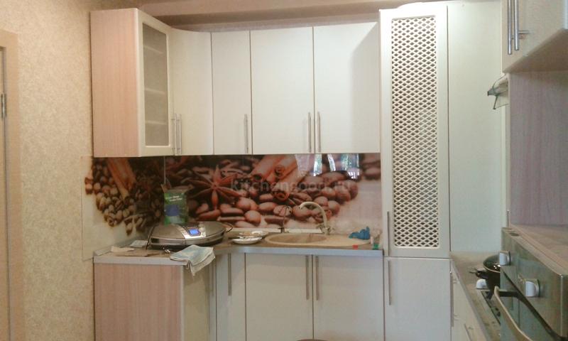 Кухня МДФ с барной стойкой