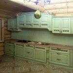 Кухня Прованс фисташка зеленая