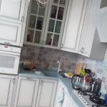 Кухня белая массив