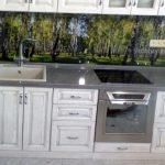 Кухня из массива дуба белая