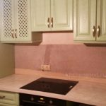 Кухня из массива дуба цвет фисташка