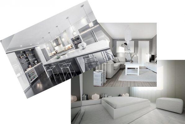 кухня серый дизайн